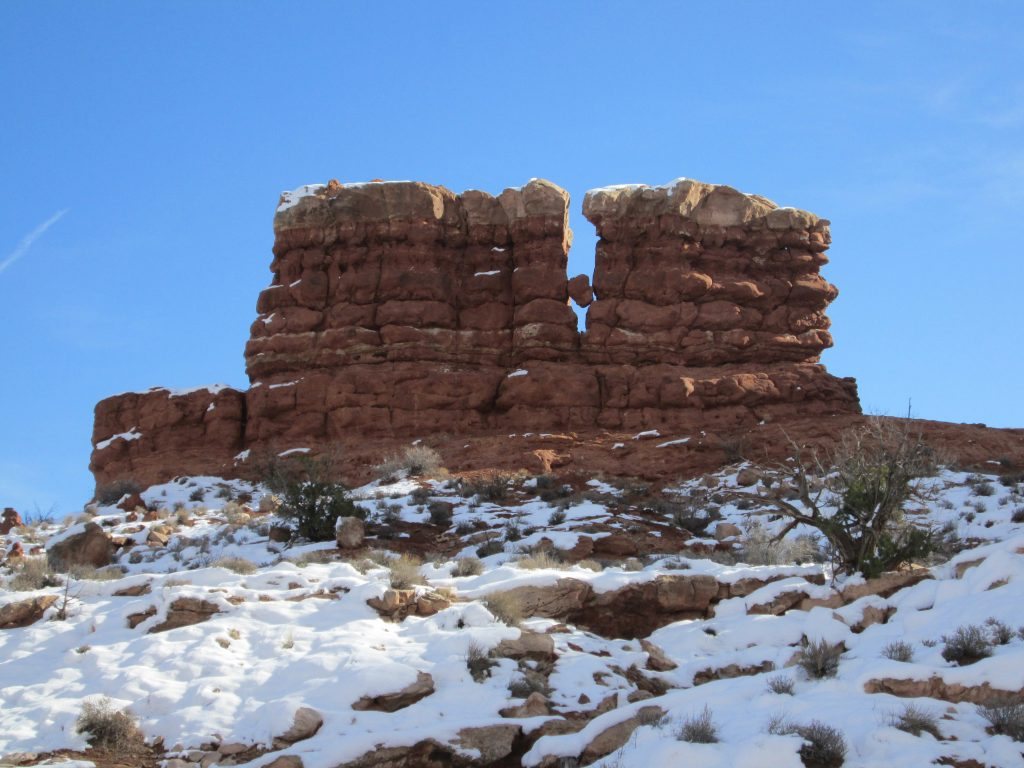 condo in moab rock formation at Arches