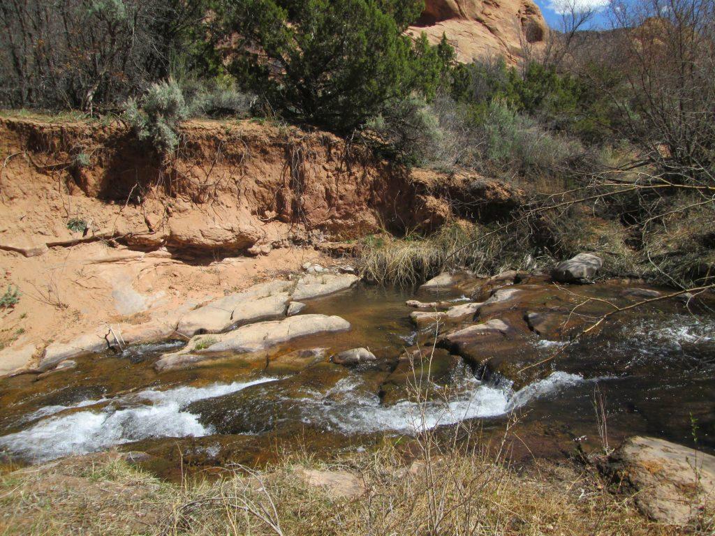 Moab condo creek scene
