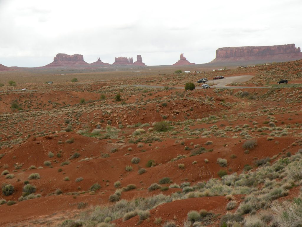 Moab Lodging view of monument valley